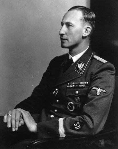 Official portrait of Nazi security chief Reinhard Heydrich shortly before his assassination in 1942.