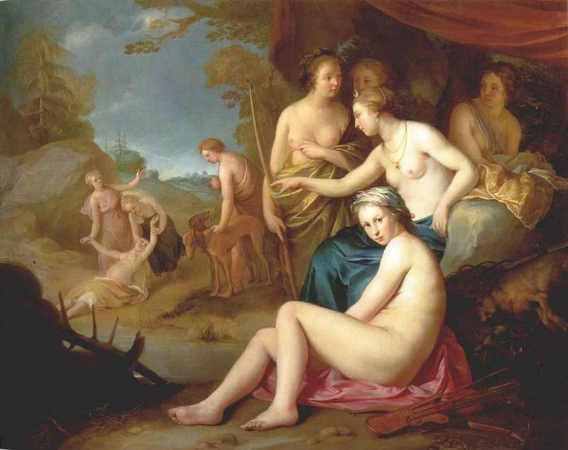 "Fototapete Peter Paul Rubens Alte Meister /""Diana und Kallisto/"""
