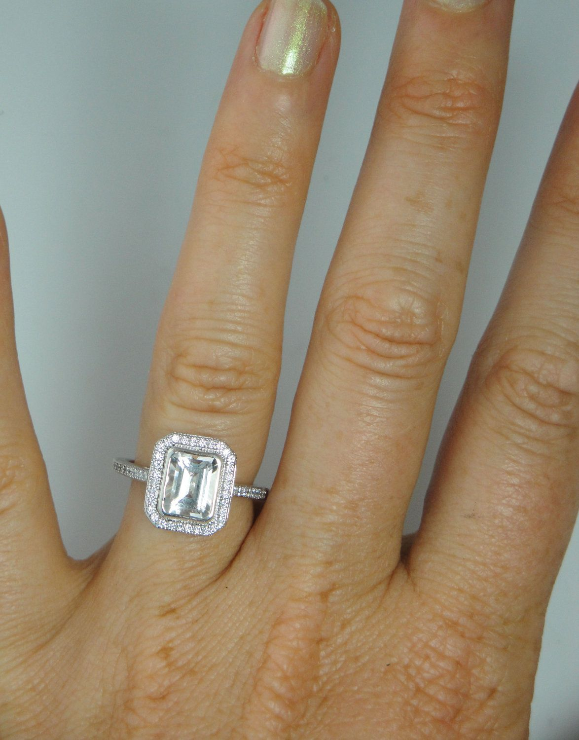 Reserved herkimer diamond ring emerald cut sterling silver bezel herkimer diamond ring emerald cut sterling silver bezel set 29500 via etsy junglespirit Images