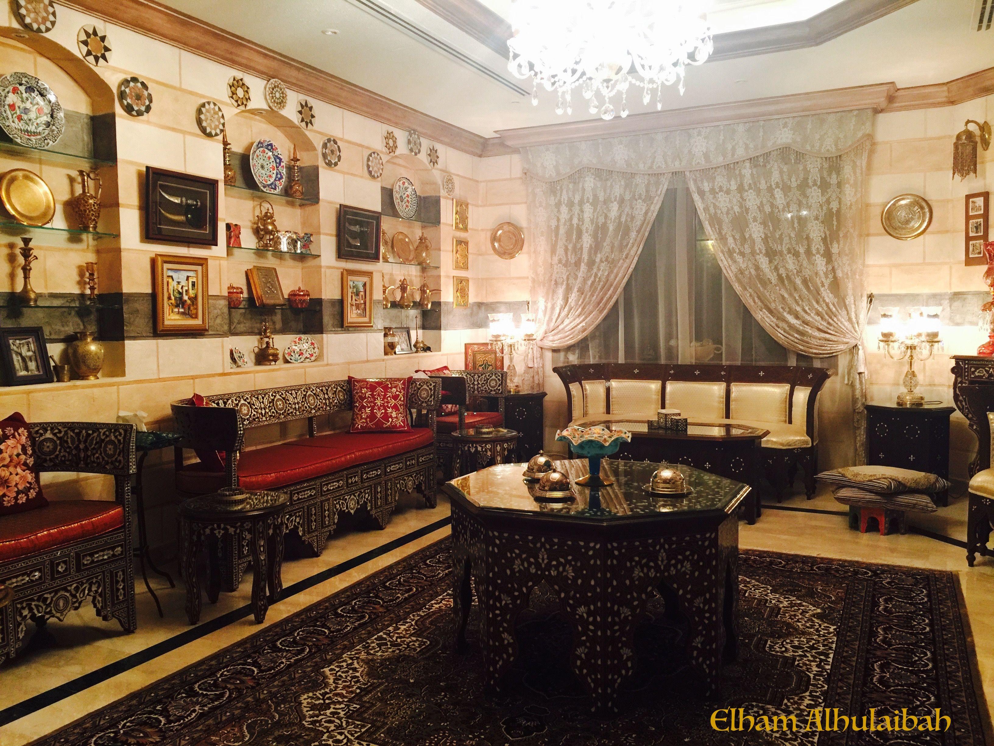 Syrian style salon, Designer, Elham Alhulaibah, Chenille interiors ...