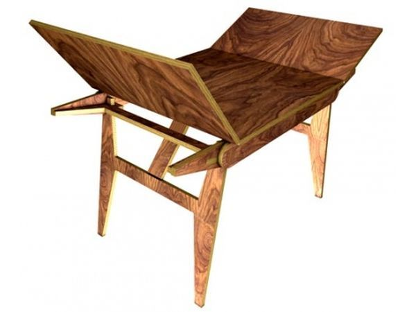 Superb Transforming Wooden Table By Frederick