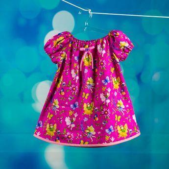 Kostenloses Schnittmuster für Kleid: Anleitung für das Peasant Dress #babydresses
