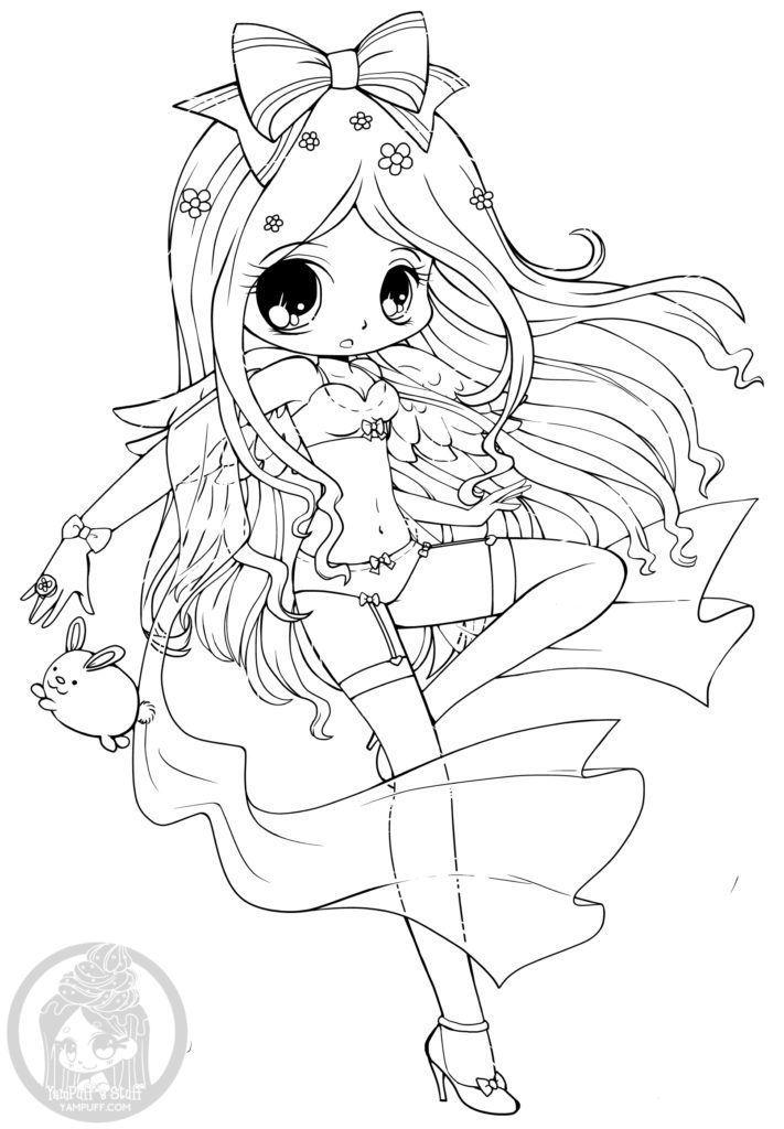 Epingle Sur Coloriage Personnage Chibi Et Manga Adult Coloring Page