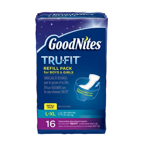 2 Packs~Goodnites Tru Fit Real Underwear with Nighttime Protection Sm//Med Girls