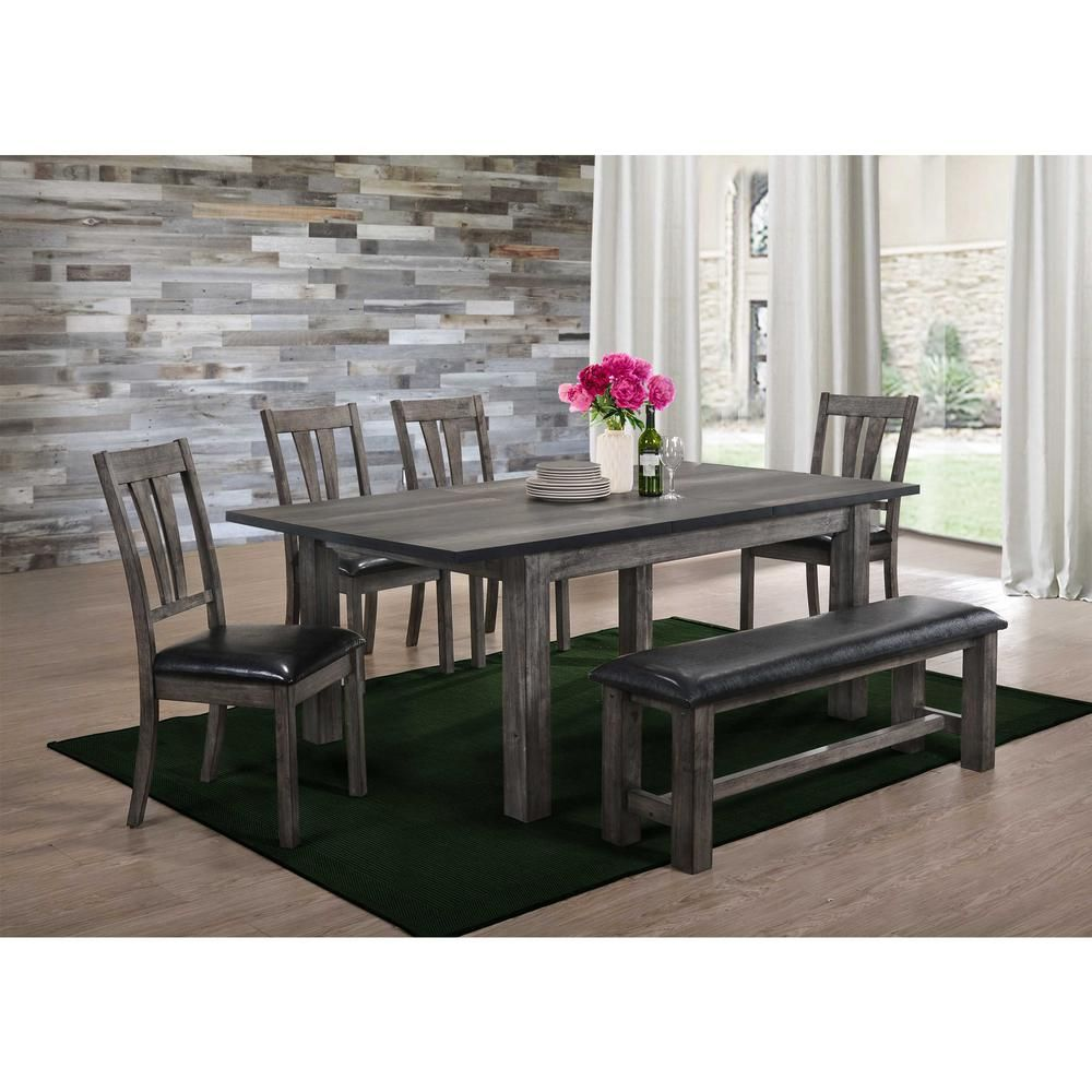 Picket House Furnishings Grayson 6 Piece Dining Set With Padded