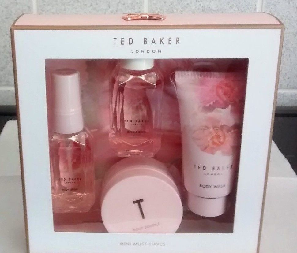 f88b604b96be NEW Ted Baker Mini Must Haves Body Spray Souffle Wash CHRISTMAS Gift ...
