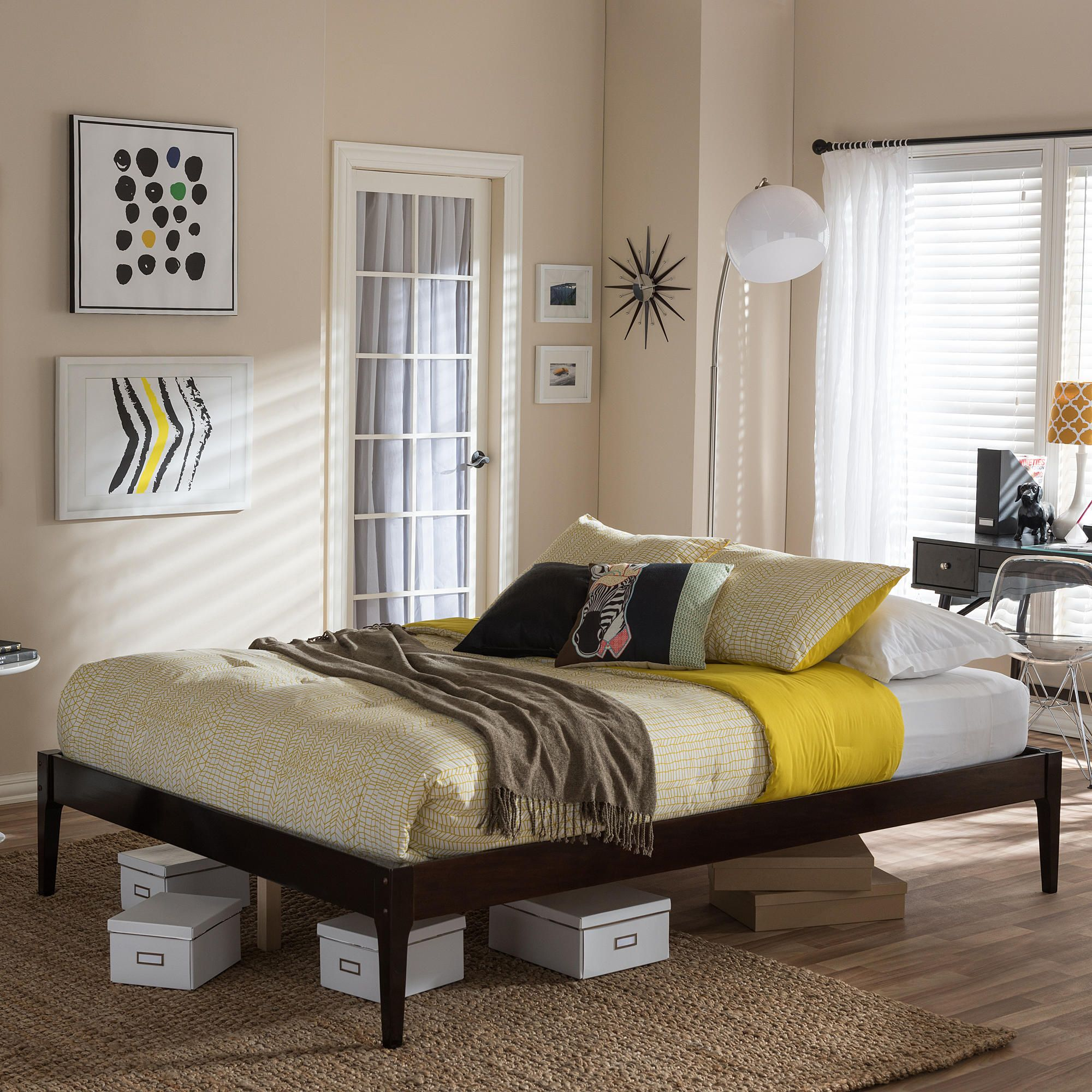 Baxton Studio Bentley Mid Century Bed Frame From Studio Living: Furniture