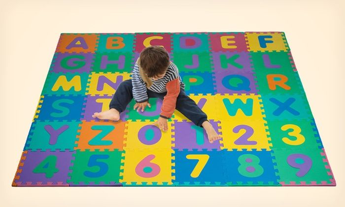 96 Piece Foam Alphabet And Number Puzzle Floor Mat For Kids Deal Of The Day Puzzle Mat Foam Flooring Foam Tiles