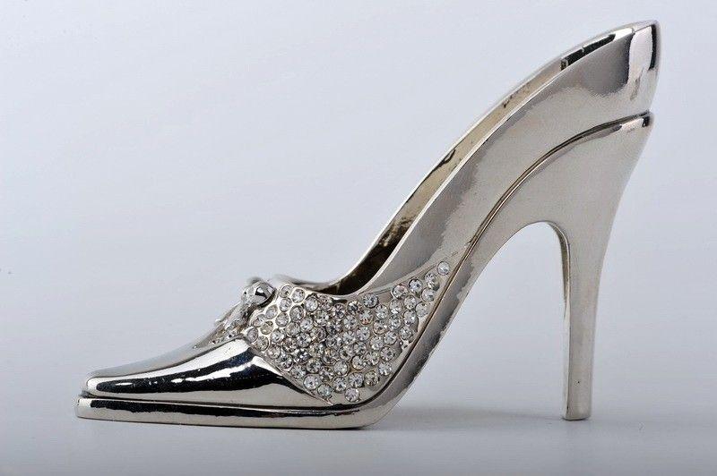 Faberge Ladies shoe trinket box Swarovski Crystal SU706