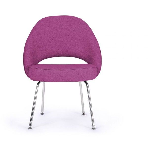 Rove Concepts Saarinen Executive Side Chair - Amethyst Reproduction (140 KWD) ❤ liked on Polyvore featuring home, furniture, amethyst, rove concepts, modern home furniture, mod furniture, executive furniture and modern furniture