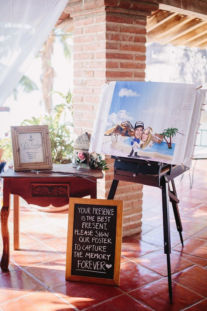 Fun wedding guest book | fabmood.com