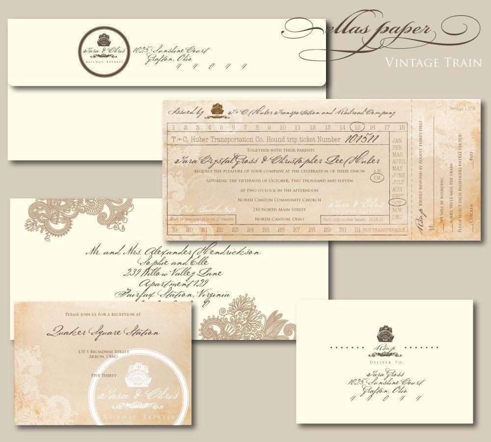 omg i love this! Train Ticket - Wedding Invitation | открытки ...