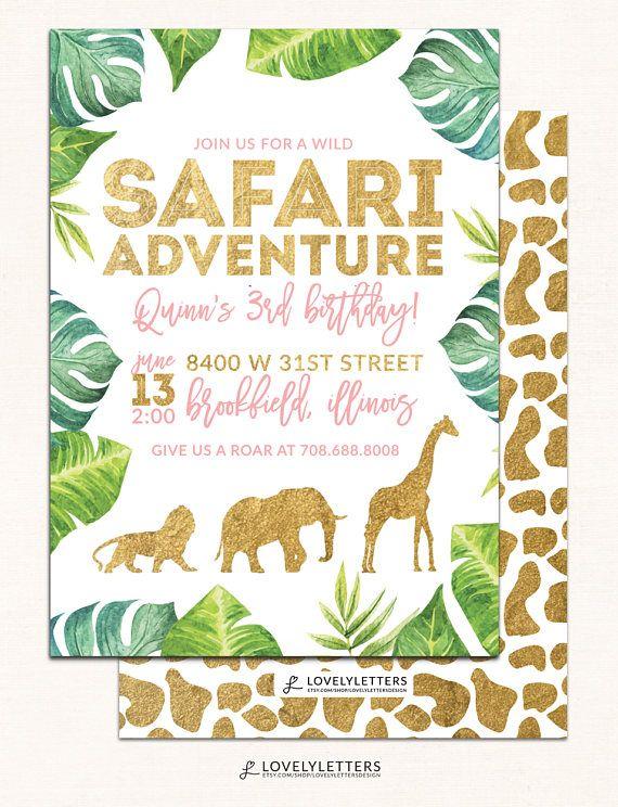 golden safari invitation gold safari party wild safari