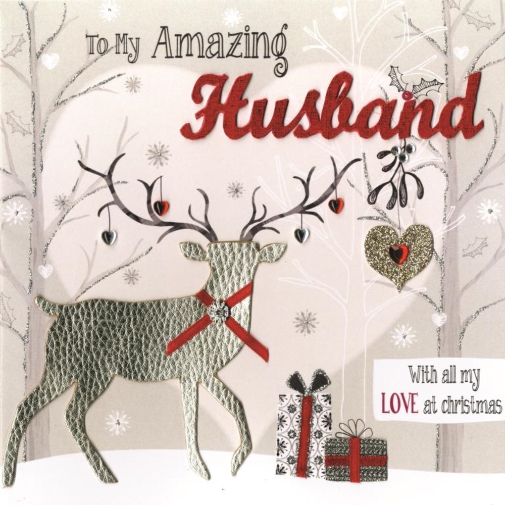 Boxed amazing husband special luxury handmade christmas card top boxed amazing husband special luxury handmade christmas card kristyandbryce Images