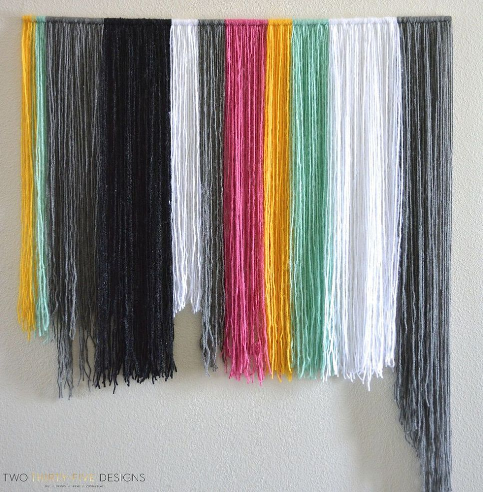 Diy yarn wall art yarn wall art yarns and craft items