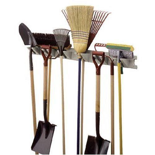 Garden Wall Tool Hanger 4 Holder Garage Storage Organizer Tools Broom Shovel