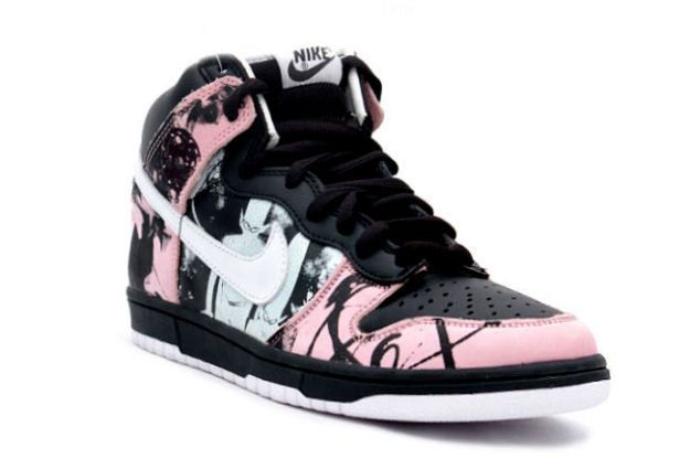 Nike Dunk High Pro SB - Unkle Dunkle Futura (black   white   pink ... 141761e08