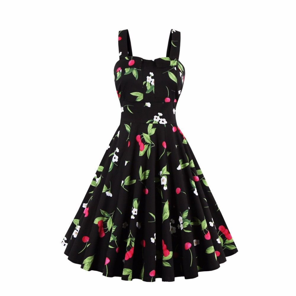 Summer dress vintage rockabilly dress jurken s s retro big swing