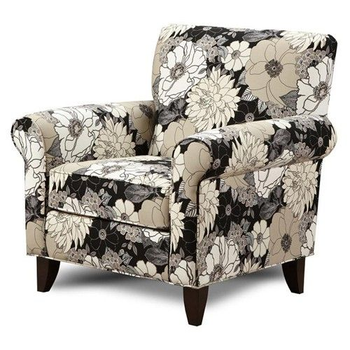 Decor Stunning Royal Furniture Southaven Ms With Amazing: Kiera Black Print Fabric Accent Chair By Fusion