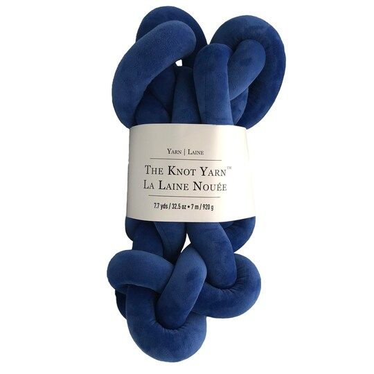 Buy The Knot Yarn™ by Loops & Threads® at Michaels. Create trendy knotted projects with the Knot Yarn by Loops & Threads. Using your hands (no tools needed!) you can hand knit pillows, cushions and other home décor accents. Create trendy knotted projects with the Knot Yarn by Loops & Threads. Using your hands (no tools needed!) you can hand knit pillows, cushions and other home décor accents. Contents: Shell: 95% polyester, 5% spandex Filling: 100% polyesterSkein Weight: 32.5 oz / 920 g Yardage: