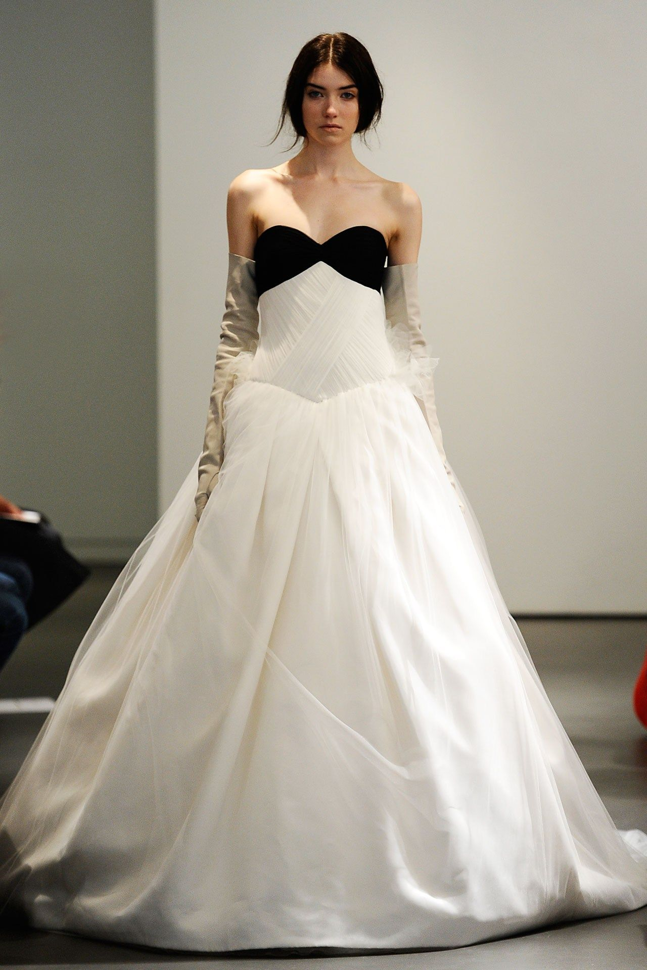 A model walks during the Vera Wang Bridal spring/summer 2014 show, as part of the Bridal Market catwalk shows in New York.