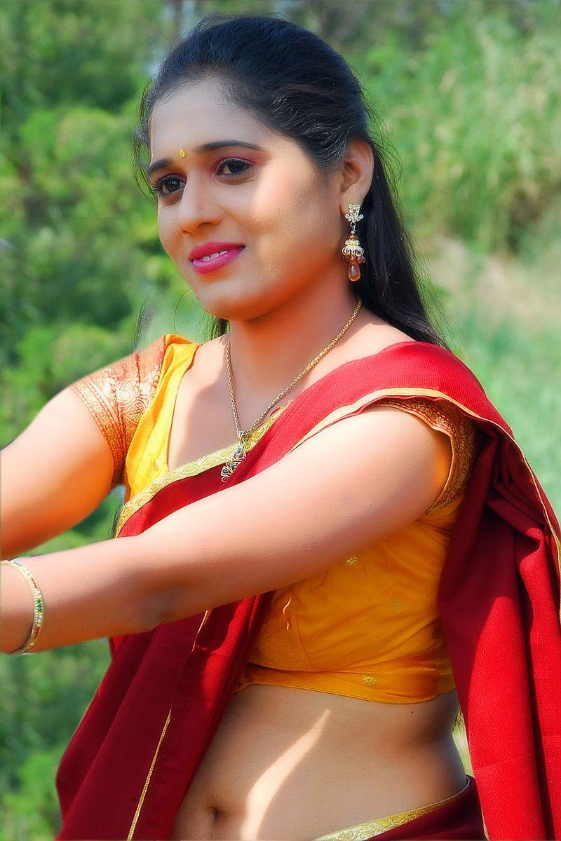 Pin By D G On Sweet  Half Saree, South Actress, Saree-8682
