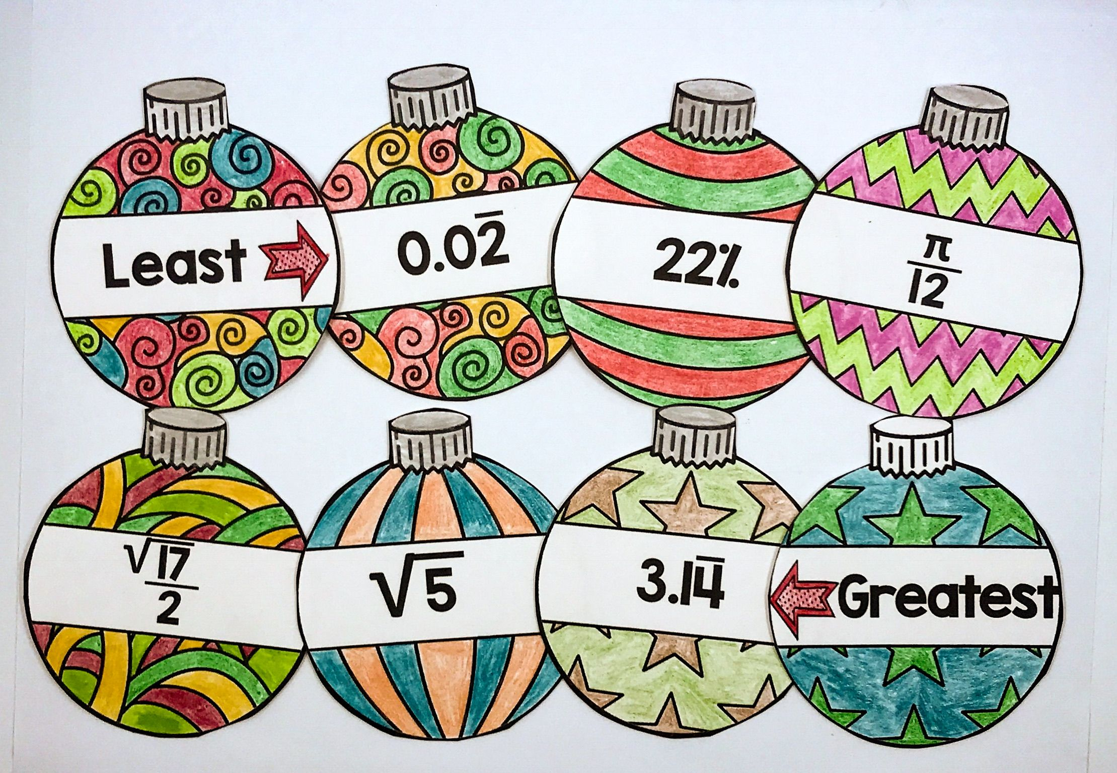 medium resolution of This Christmas Math activity is the perfect way for 8th grade math students  and Middle Schoo…   Christmas math activities