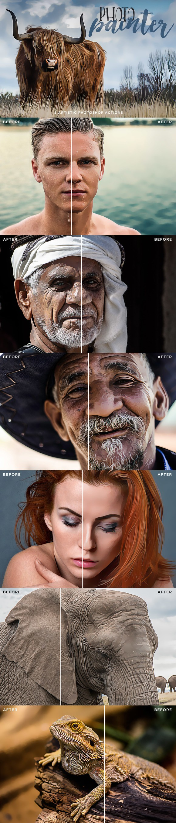 Photo Painter Photoshop Actions 1. Actions. $7.00