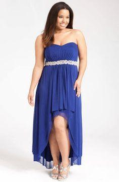 Vestidos de fiesta en azul para gorditas