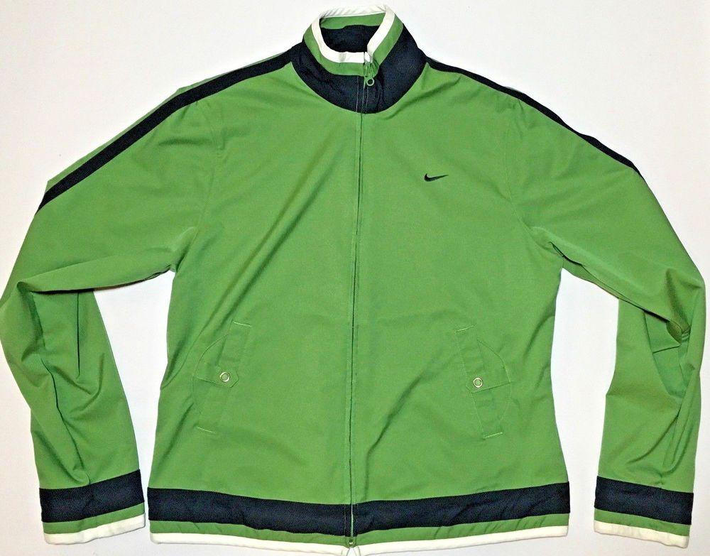 7694254d0a01 Nike Youth Kids Full-Zip Track Jacket Sz L 12-14 Green Zip Long Sleeve Top  NWOT