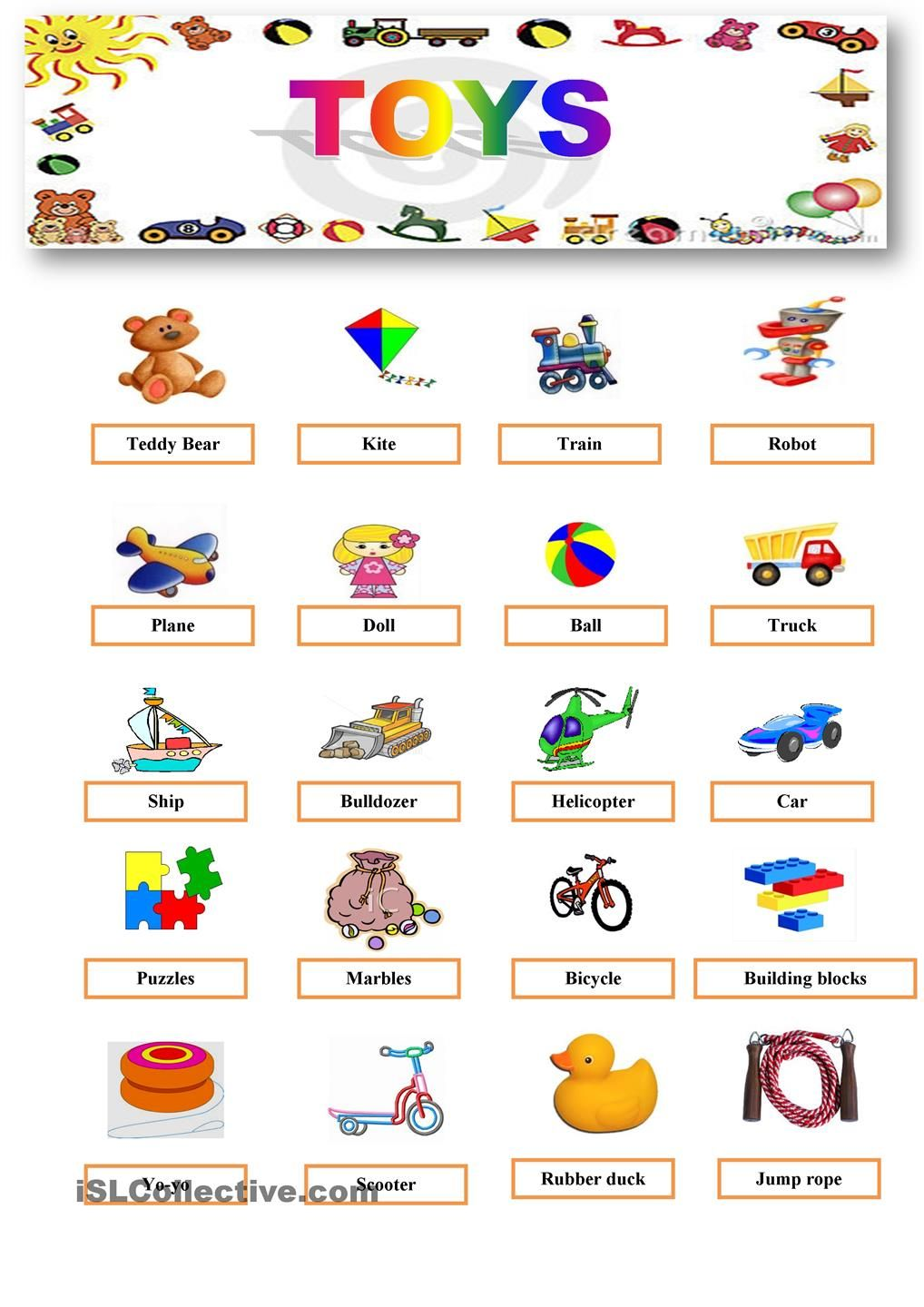 Toys For Activity : Pin by edita jusiene on english printables pinterest