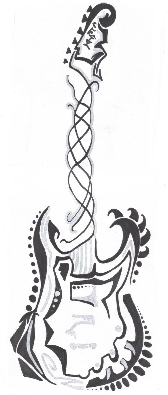guitar coloring page i blanco designs zentangles