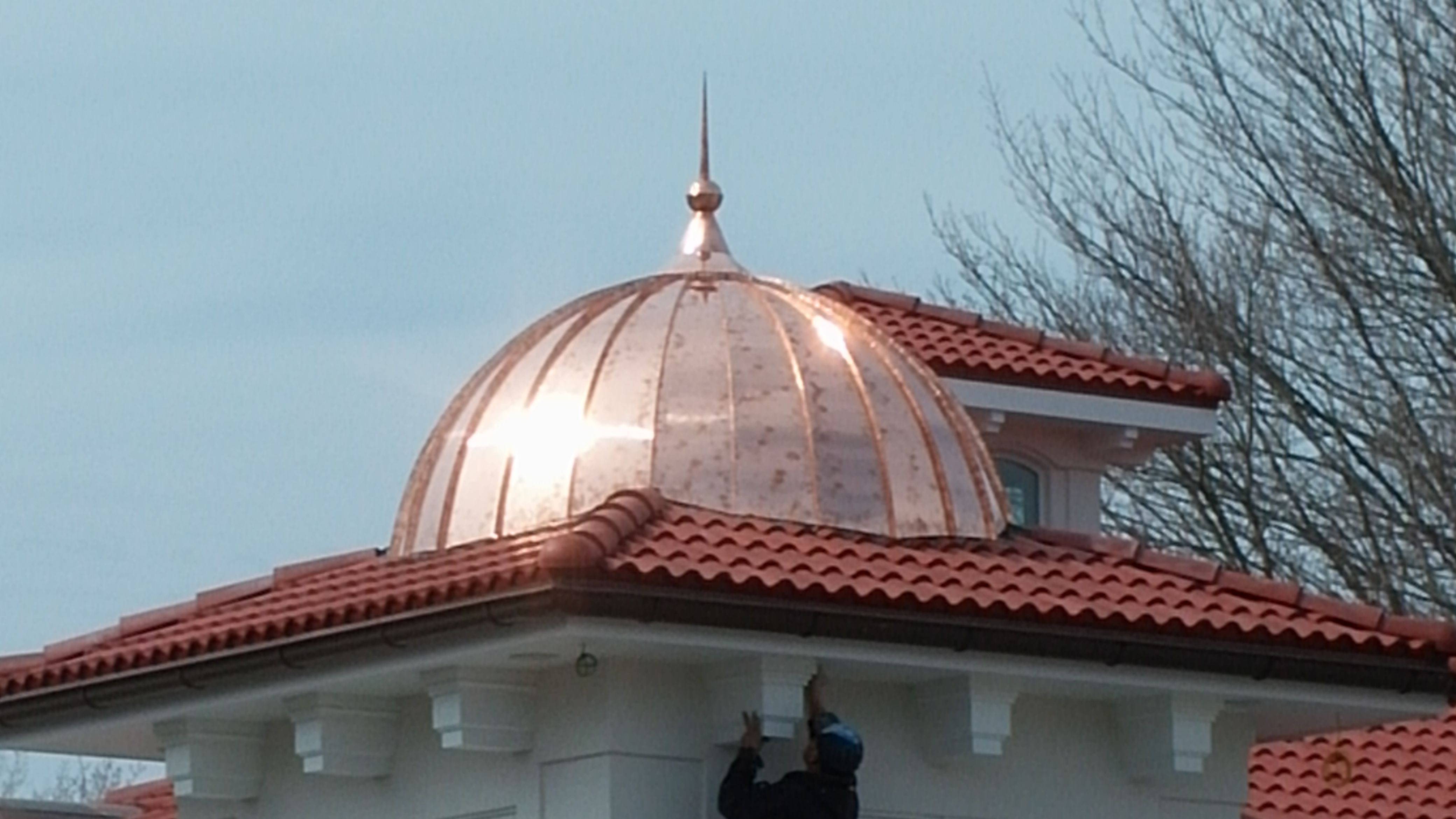 Copper Dome Copper Roof Roof Styles Roofing
