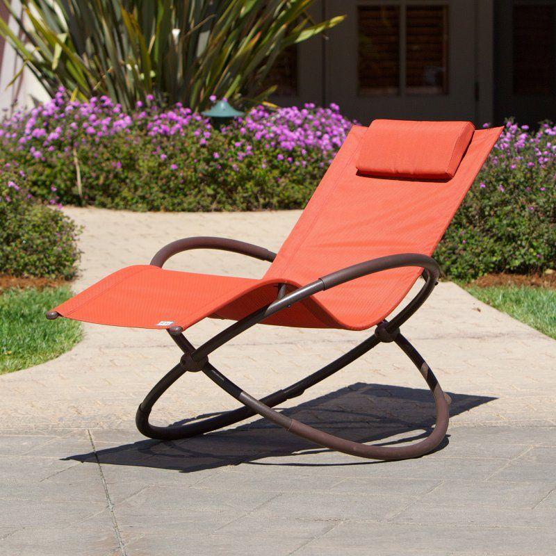 RST Brands Orbital Outdoor Lounger Poppy/Orange - OP-OL04-ORG
