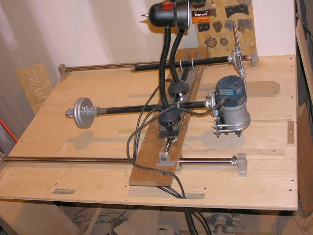 A Router Duplicator for Copying Curved Shapes Carving Duplicator - copy blueprint engines bp3501ctc1