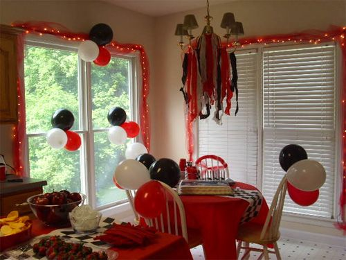 Birthday Decoration Red and White