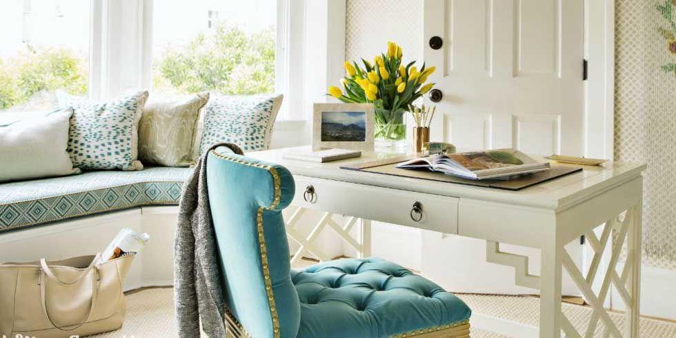ديكور مكتب منزلي مكاتب منزلية مكتب مودرن بسيط مكاتب مودرن Home Decor Home Design