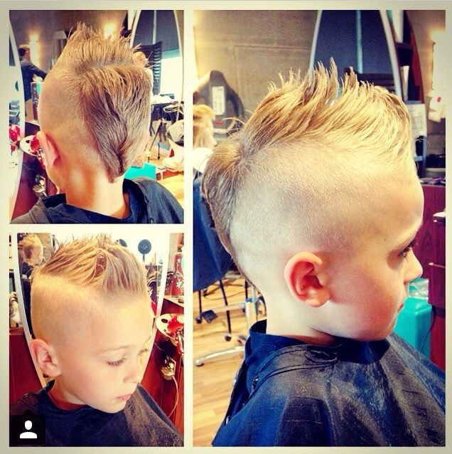 Kids Haircut This Is A Texturized Mohawk Short Sides Style For Kids Boys Hair Boys Haircuts Boy Hairstyles Toddler Hairstyles Boy
