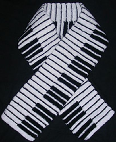 Piano Key Scarf by Rachel Choi Would make a perfect gift ...
