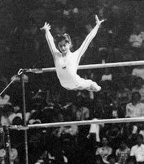 Nadia Comăneci - 1976 Olympics - first perfect 10 on bars!