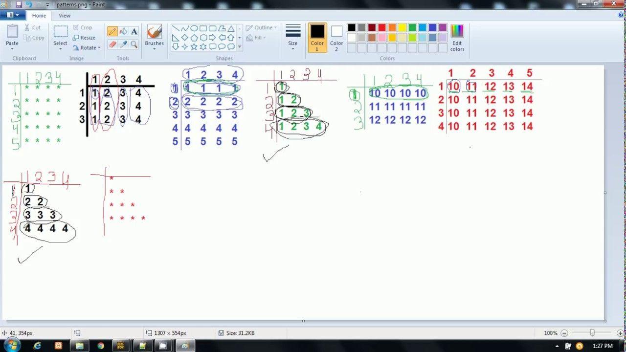 Star Pattern 2 In C Language Hindi Star Patterns Language