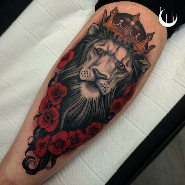 lion with crown tattoo best tattoo ideas gallery skin canvas pinterest lions crown. Black Bedroom Furniture Sets. Home Design Ideas