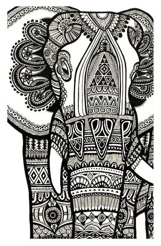coloriages zen pour adultes   Coloriage elephant, Coloriage difficile, Coloriage