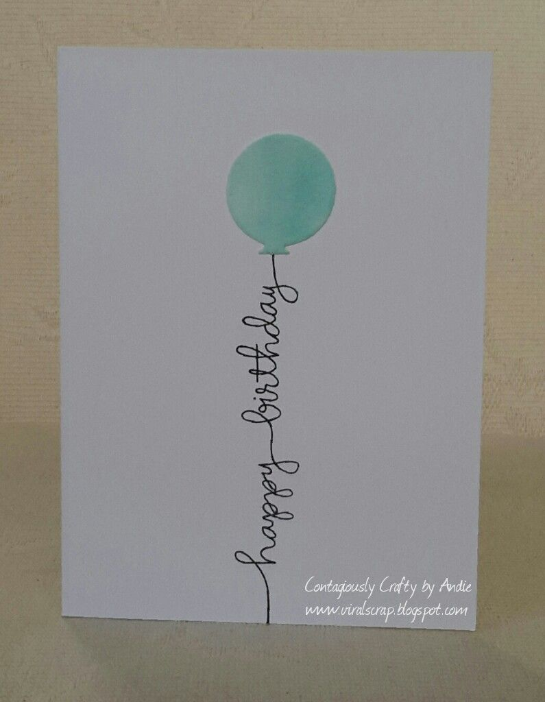Contagiously Crafty Simple Birthday Cards With Avery Elle Balloons