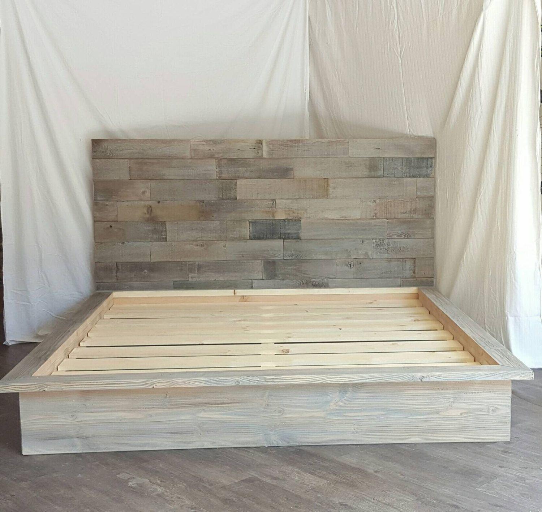 Kristopher Storage Bed Reclaimed Wood Headboard Wood Bed Frame