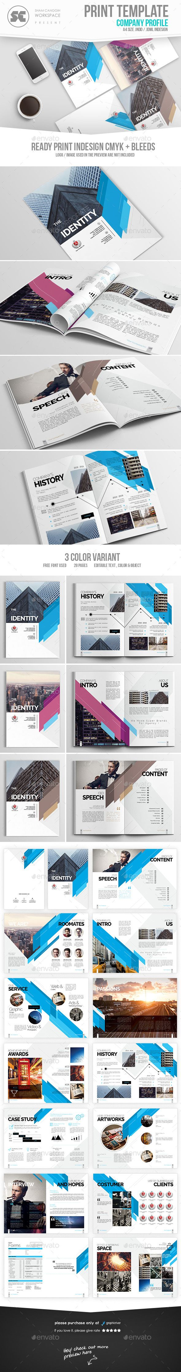 Professional Business Profile Template Company Profile  Company Profile Indesign Templates And Profile