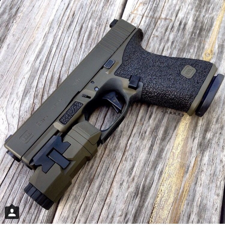 Great Color on this Custom Glock 19 | Glocked Out Cold | Pinterest ...