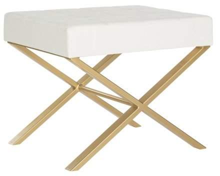 Awesome Safavieh Badgley Modern Glam X Leg Upholstered Rectangular Machost Co Dining Chair Design Ideas Machostcouk