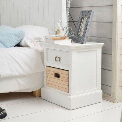 Chevet blanc et pin Britz