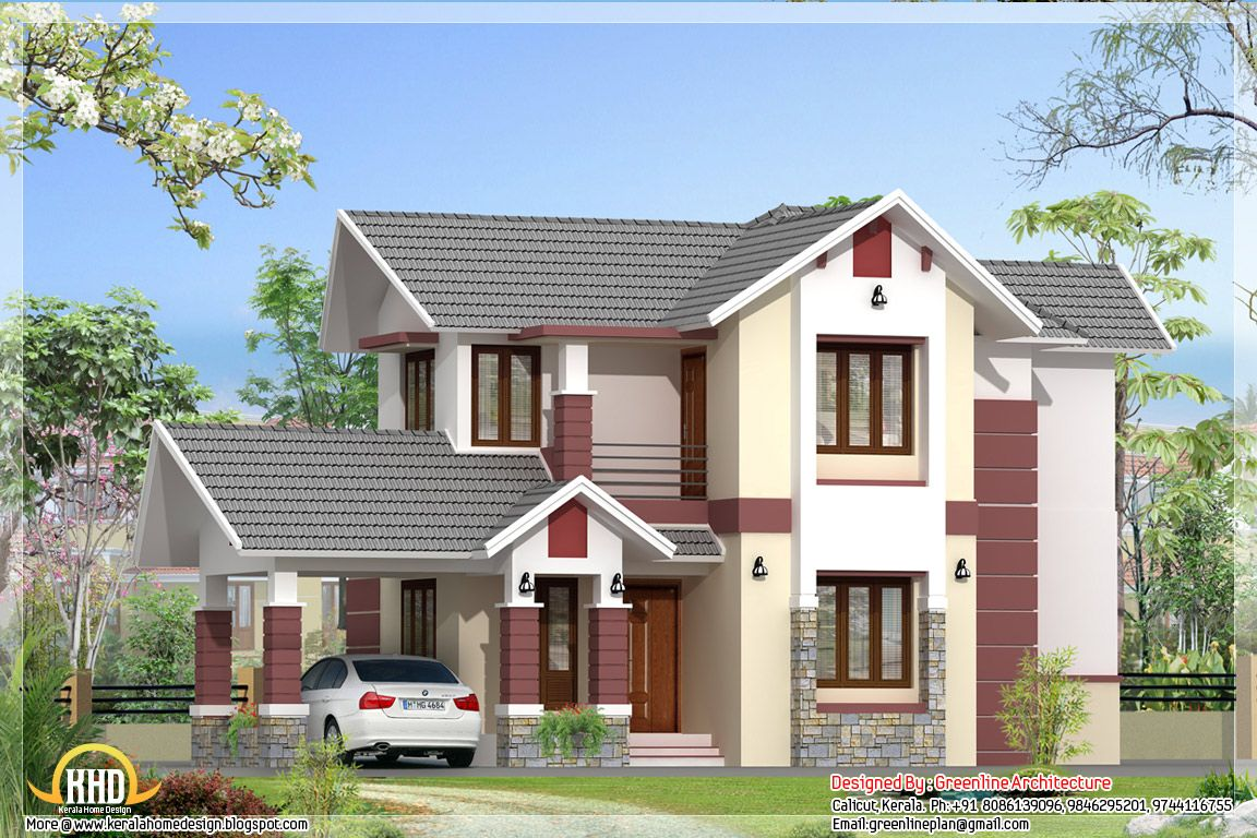 Homes with carports in the front home elevation for Kerala house plans and elevations